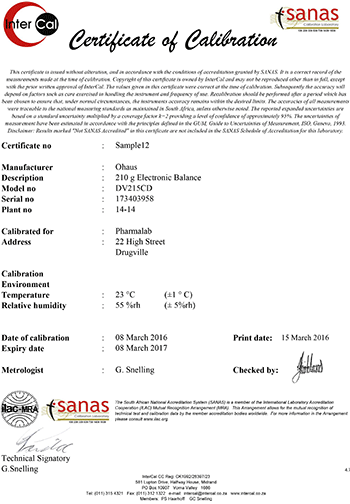 Understanding the data and true value of a calibration certificate example of a sanas calibration certificate page 1 yelopaper Image collections