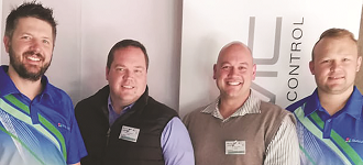 The Vaal committee at the roadshow (left to right): Dirk van der Walt (vice chairman), Juaandré Heyneke (branch manager), Theo Potgieter (secretary) and Cobus du Toit (media).