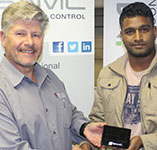 Lucky Draw Winner (from left to right) – Johan Maritz and Veolin Pillay.