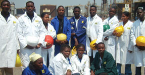 The group from Mufulira just prior to the refinery tour at Ndola
