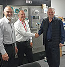 Left to right: Walter Chapman (trainer), Andy Verwer (PI auditor) and Henry Heymans (Siemens training manager).