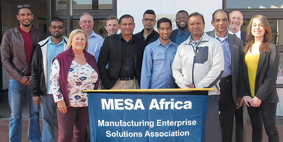 Visitors and presenters at the MESA Africa function.