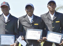 The AST sponsored riders at the South African Derby.