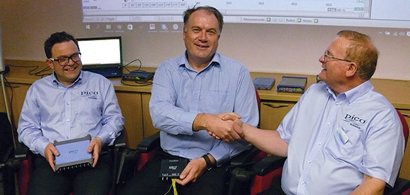 Left to right): Stuart Murlis (Pico), Barend Niemand (Comtest) and Paul Allen (Pico).
