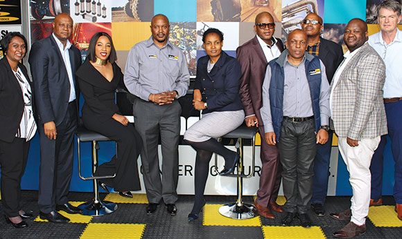 From l: Evershree Mathadeen, country distribution and retail manager, Parker; Seaparo Sekoati, Limpopo Economic Development MEC; Tebogo Macheke, board chairperson, ParkerStore Limpopo; Brian Munetsi, executive director, ParkerStore Limpopo; Thembi Nkadimeng, executive mayor, Polokwane; Lehlogonolo Masoga, legislature deputy speaker, Limpopo; Jacob Mothobi, technical director, ParkerStore Limpopo; John Dombo, senior manager, Ivan Plats; Tebogo Brian van Wyk, director, ParkerStore Limpopo; Eugene Nortje, new business development manager, Stefanutt Stocks Mining Services.