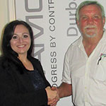 Hennie Prinsloo (right) thanks Annemarie van Coller for her presentation at the AGM.